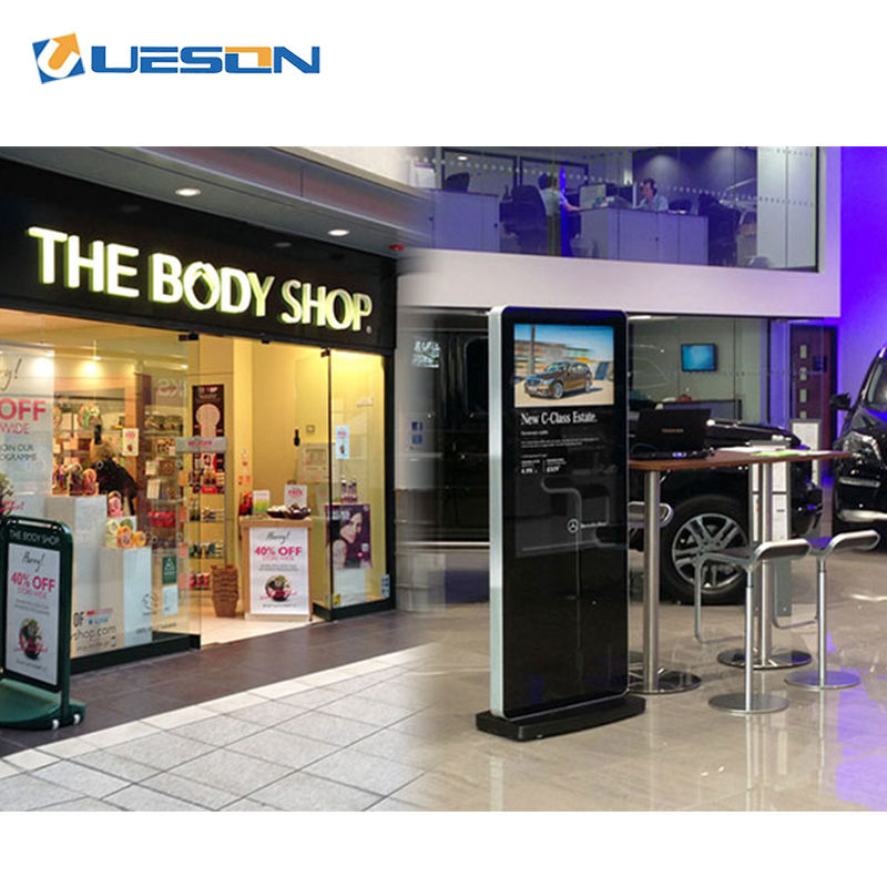 kiosk advertising floor stand digital signage Android LCD Advertising Screen Totem with Remote Managing software