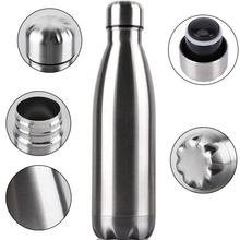 0.5Ltr Stainless steel double walled insulated cold and hot drinks bottle