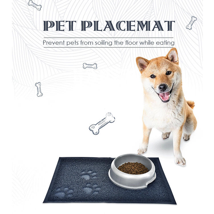 60*40 CM 발 인화 개 식품 Feeding Mats PVC Pet Mat