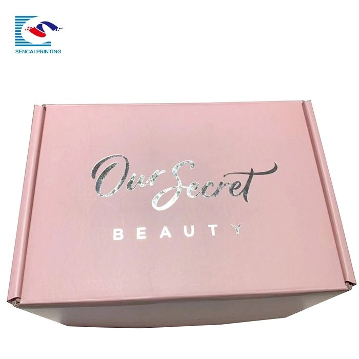 High quality corrugated packaging box with logo stamping