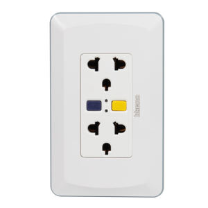 LUMEX Ground Fault Circuit Interrupter GFCI 220V Duplex combination of International and Universal Outlet