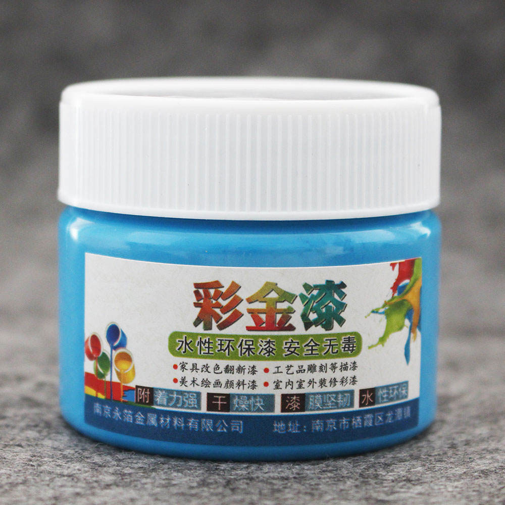 Blue Acrylic Oil Paint for Car Statuary Coloring Home Furniture 100g Water-based Quick-drying Varnish
