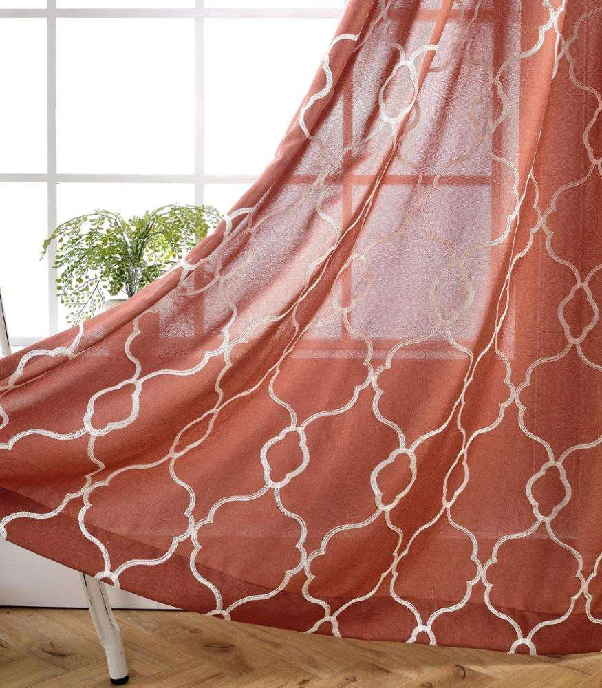 wholesale living room curtains sheer curtain fabric china manufacturer