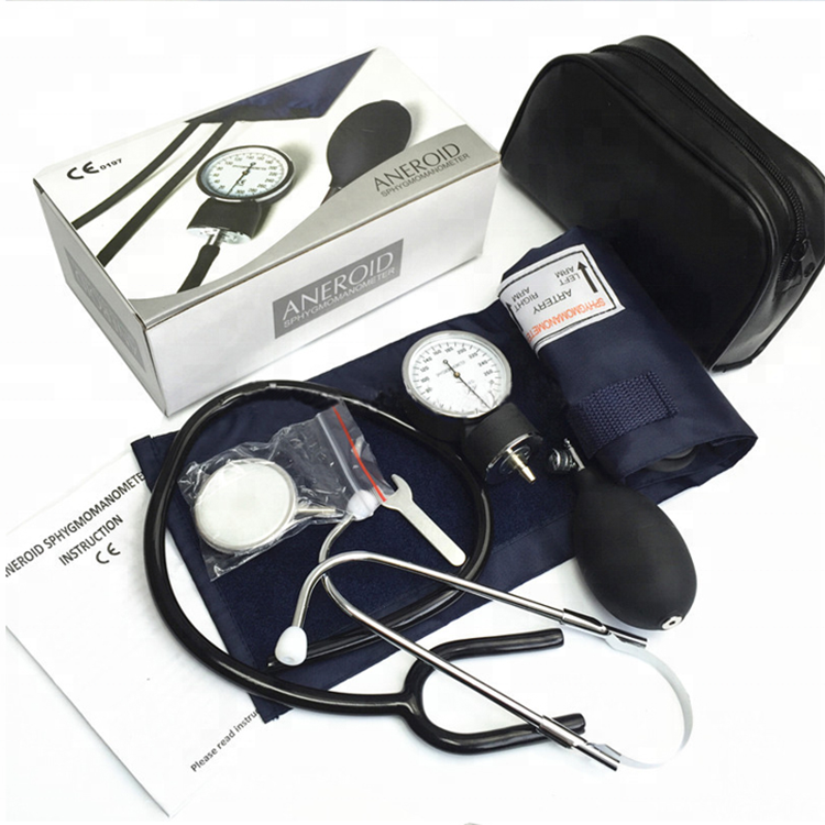 Medical Standard OEM Manual Aneroid Sphygmomanometer with Single or Dual Stethoscope