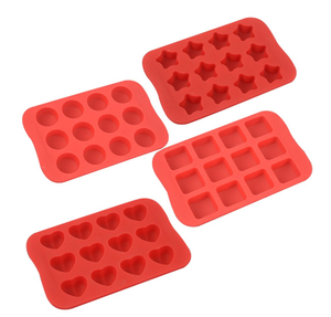 Custom 12-Cavity Candy Different Shape 4-in-1 Silicone Baking Molds Chocolate Molds&Candy Molds