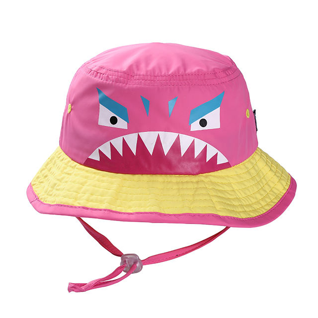 Fast Delivery Small MOQ Baby Cartoon Bucket Hat With String