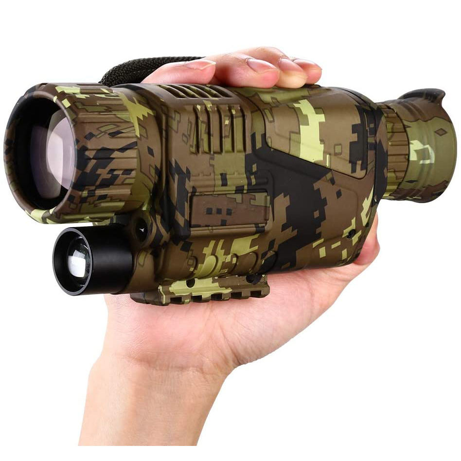 Digital Night Vision Monocular 5x8 Optics Scope Night Vision Infrared Monoculars with 16GB Card for Hunting Observe
