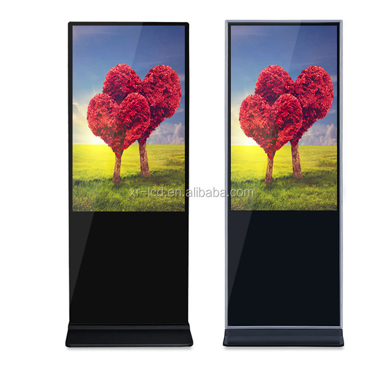 OEM digital lcd signage touch screen kiosk totem display infrared touch screen 50 inch
