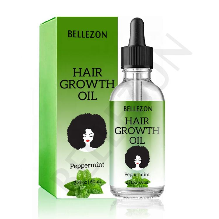 Custom Logo Good Effect 60ml Peppermint Hair Growth Oil 100% Natural Serum Drops