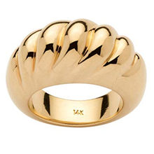 Fashion Gold Plated Dome Ring Stainless Steel Chunky Ring for Woman