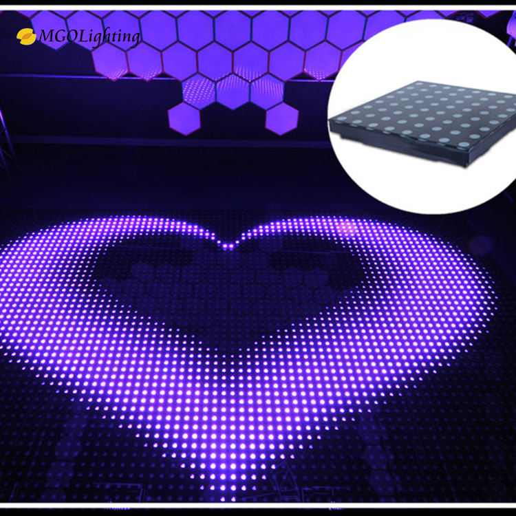Digital induced magnetism acrylic dj lighting built-in programs 3D Led Wedding Dance Floor