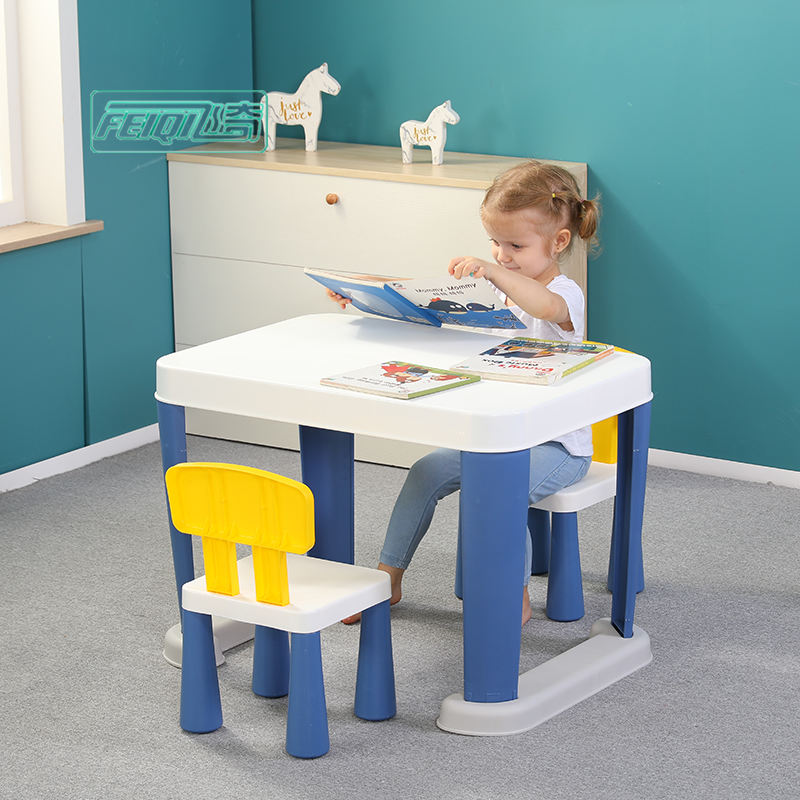 Wholesale plastic furniture sets children table and chair for kindergarten kids use