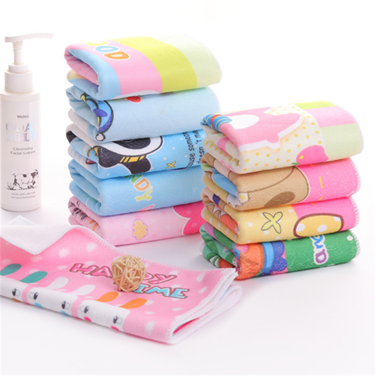 Customize cartoon digital printing soft absorbent kids bath beach towel microfiber