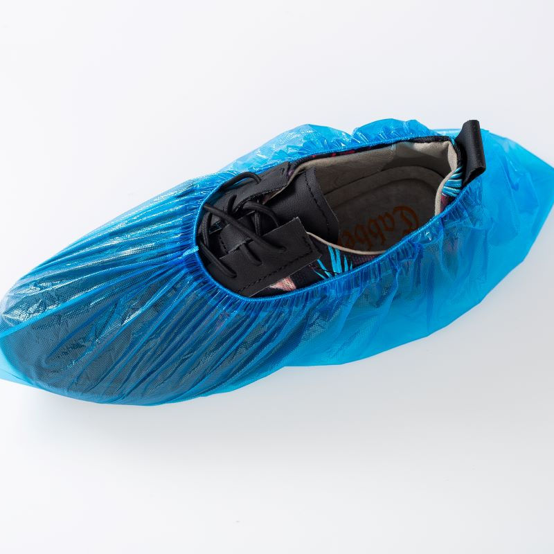 CPE shoe cover,Waterproof, dustproof, disposable plastic shoe cover,15*40,