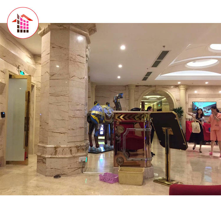 Five Star Hotel Decorations Marble Garden And Indoor Beige Marble Column Price