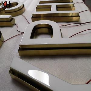 Epoxy Resin Bisnis Papan Tanda LED Depan Menyala Epoxy Resin Letter Sign