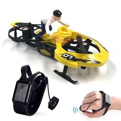 2.4G Hand gesture sensor 4 propellers helicopter ufo quad copter snowmobile watch rc mini drone toys
