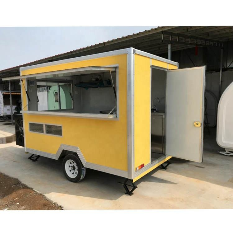 2021 American Popular Street Outdoor Fast Food Carts Crepe Food truck with Snack mobile kitchen cooking equipments price