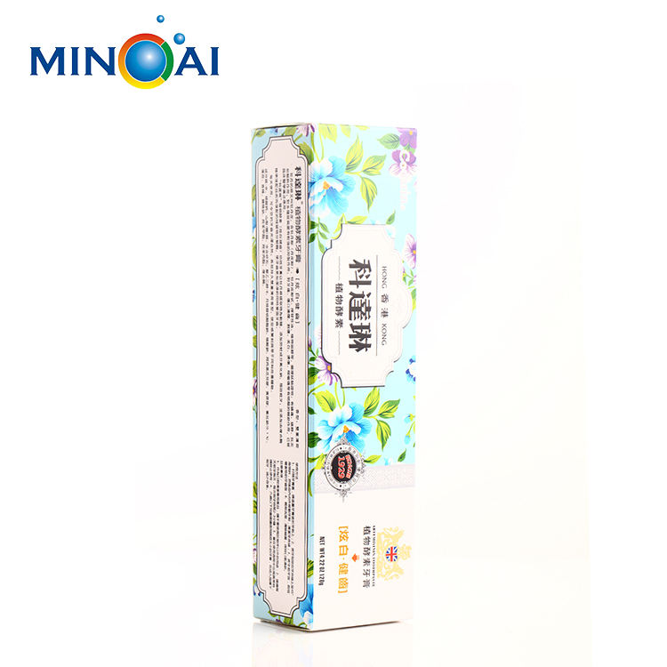 Custom printing color toothpaste packaging paper box