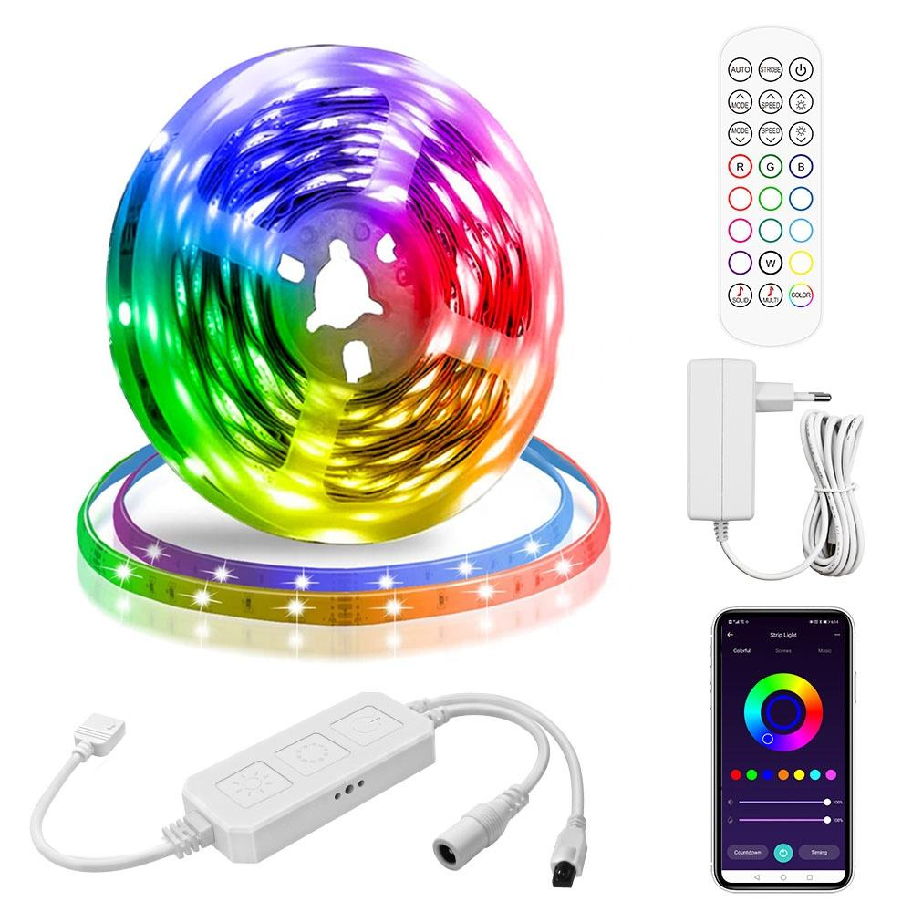 5M 300Leds Multifunctional 5050 RGB Led Strip Lights Waterproof DC 12v LED Flexible Led Lights Strip Led Back Light
