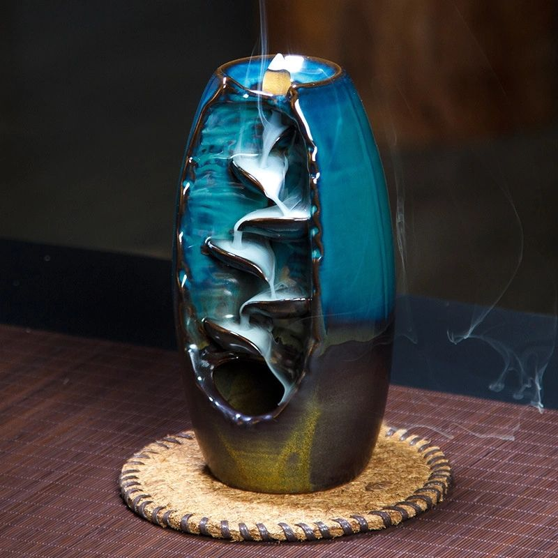 Incense burner Ceramic Aromatherapy Burning Waterfall back flow incense burners arabian oud backflow burner joss stick holder
