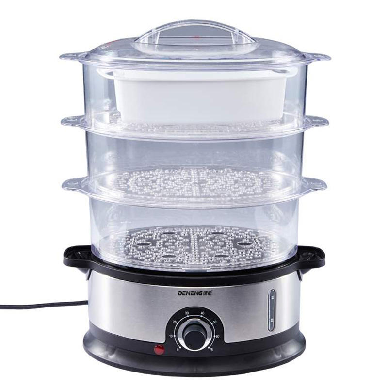 Best 3 tier electric food steamer for cooking 9L electric home food steamers multi-purpose food steamer