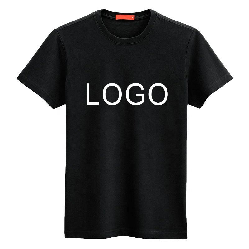 Cheap Price Custom LOGO Printing Black T shirt for Men and Women