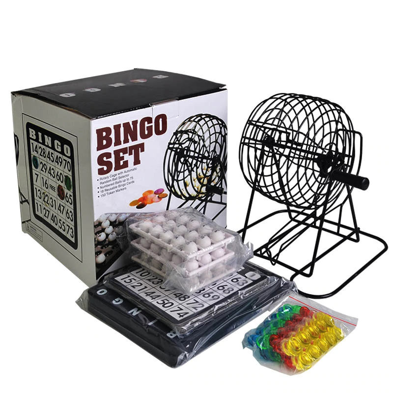 Gokken professionele poker bal houten bingo game set