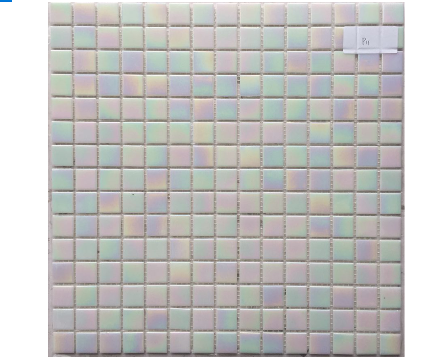Iridescent Glaze White Glass Mosaic Pool Tile for Bathroom and Kitchen