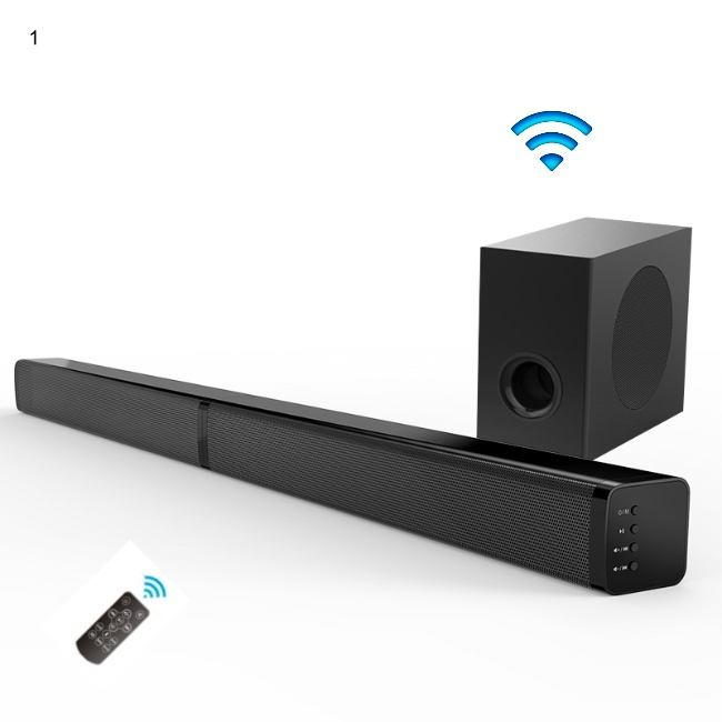 new 5.1 home theatre system soundbar speaker with wireless subwoofer