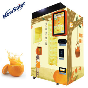 Intelligent Automate Fresh Orange Juice Vending Machine With 21.6 Inch Lcd Screen