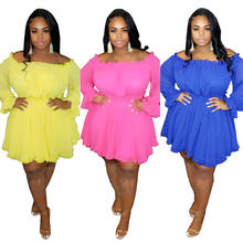 Wholesale New Designs Sexy Plus Size Dress Skirts Ladies 5XL Plus Size Dress