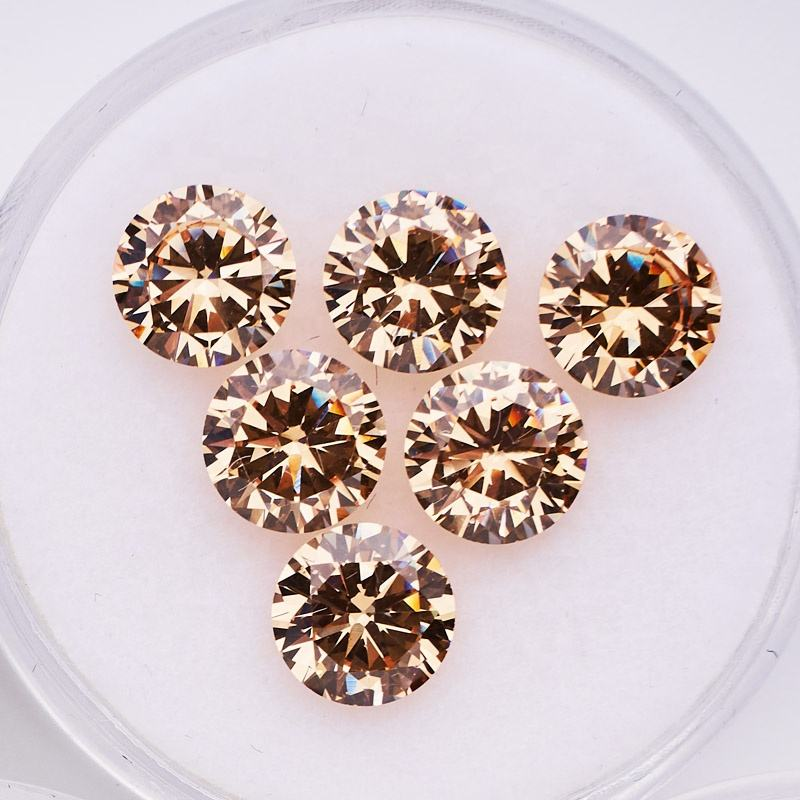 7A Loose Gemstone CZ Jewelry Price 1mm 3mm to 12mm Sart Cut CZ Rough Color Round Cubic Zirconia Stone for Necklace Making