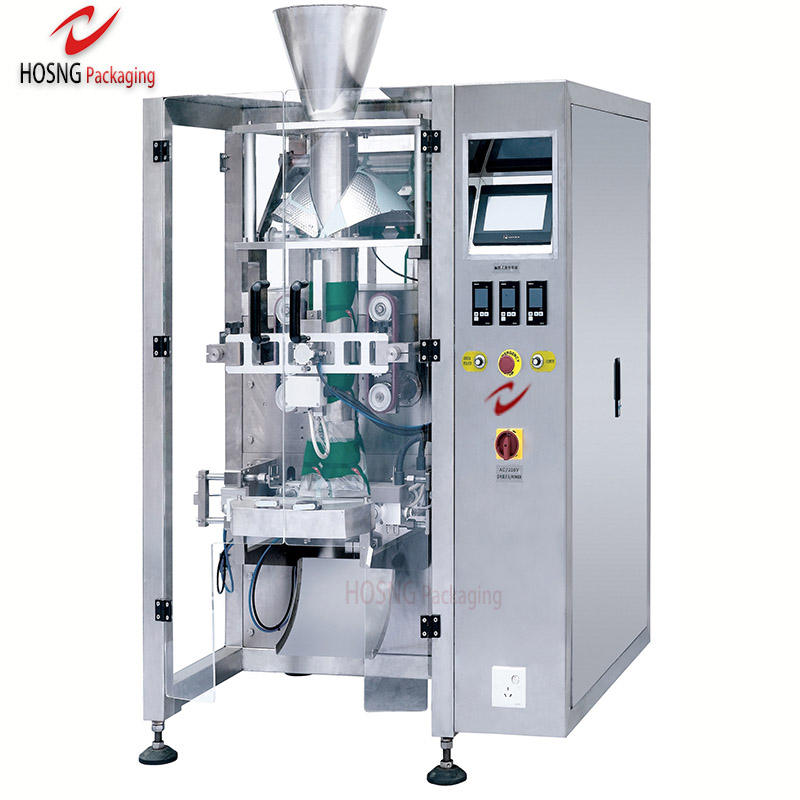 HS-520A Vertical Form Fill Seal Packing Machine For Flour Powder/Dry Fruit Granules/Bag Liquid Milk