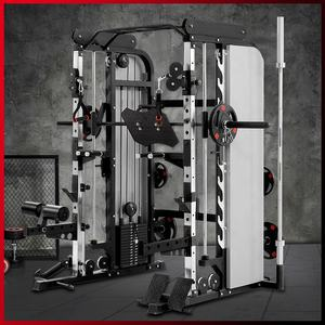 Gymnase de remise en forme commerciale Entraîneur multifonctionnel smith machine squat rack pour la maison