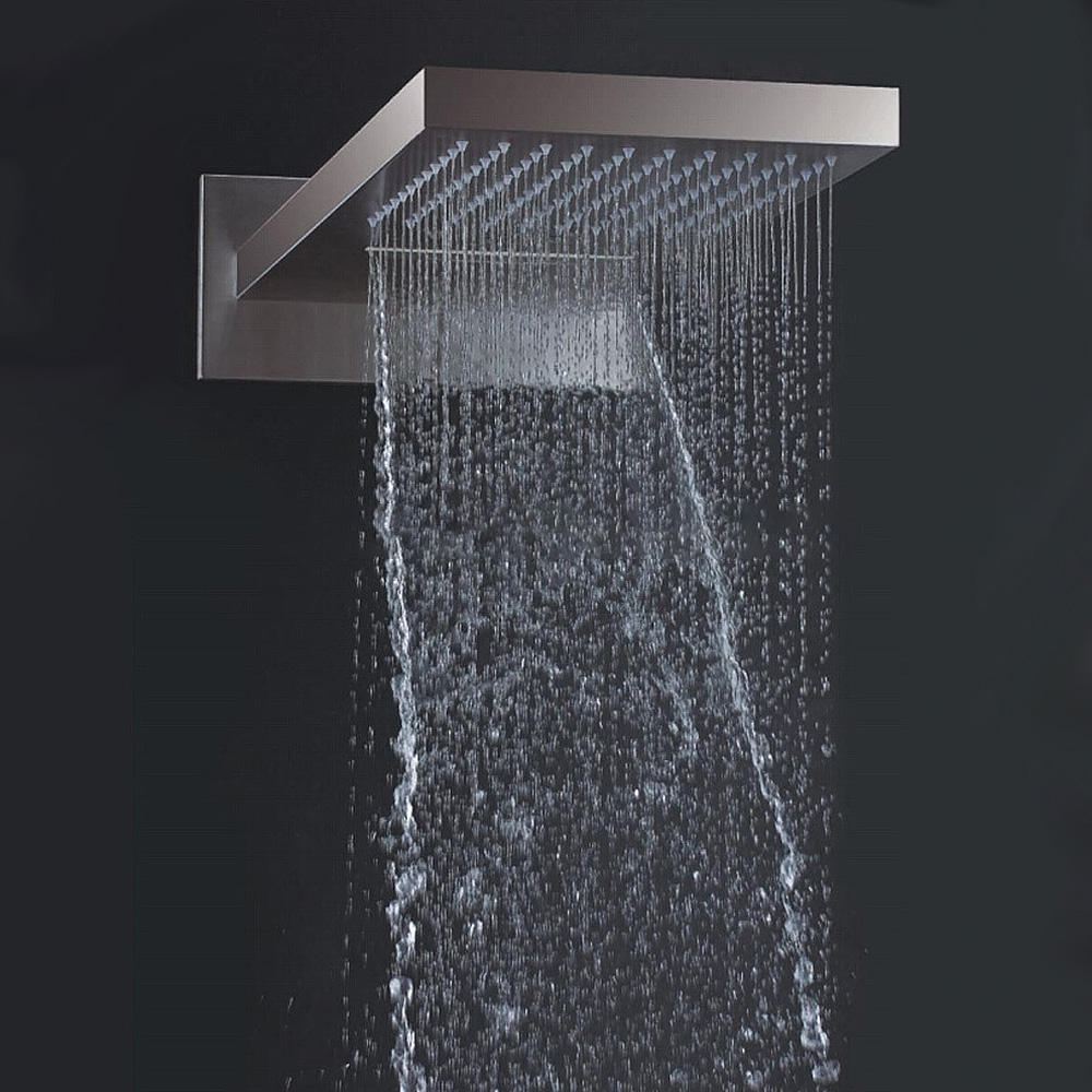 Rain Waterfall Mist Wall Mounted Bathroom shower head penal