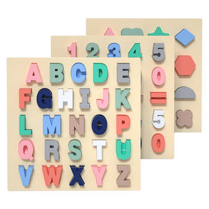 numbers board wooden toys, educational alphabets jigsaw puzzle board, montessori shapes wooden jigsaw puzzle for kids