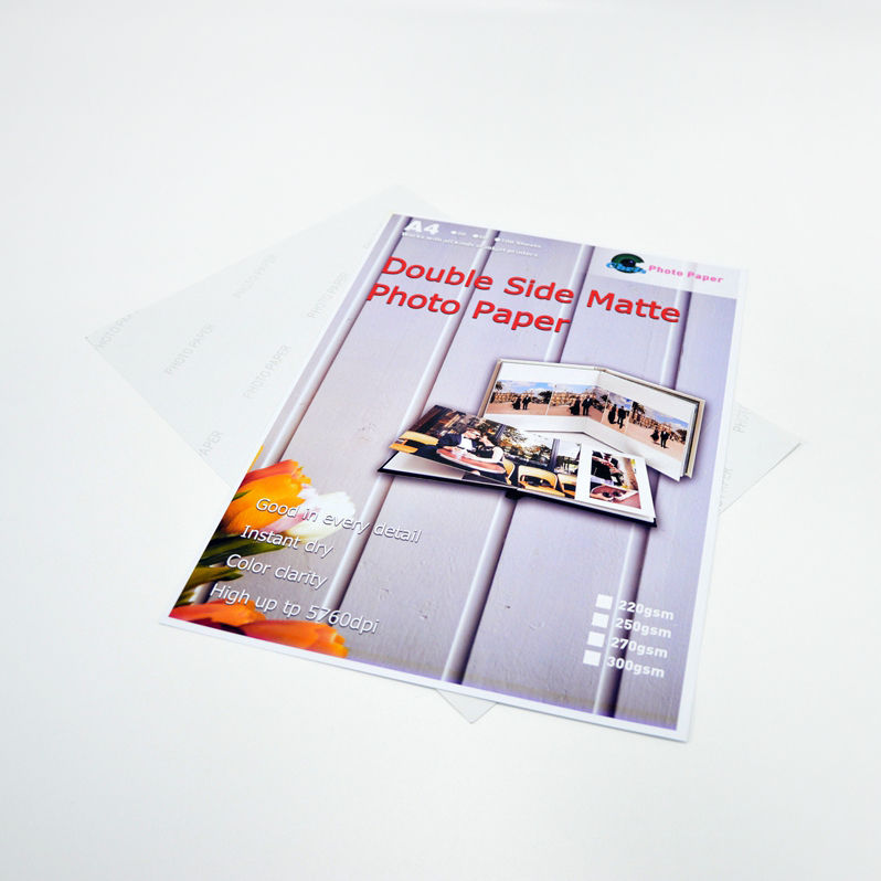 double sides matte inkjet printing 230gsm 250gsm A4 A3 photo paper