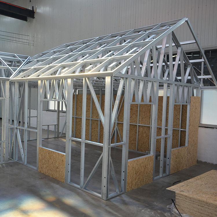 Çin tedarik iki yatak odalı prefabrik hafif çelik çerçeve küçük ev için ev