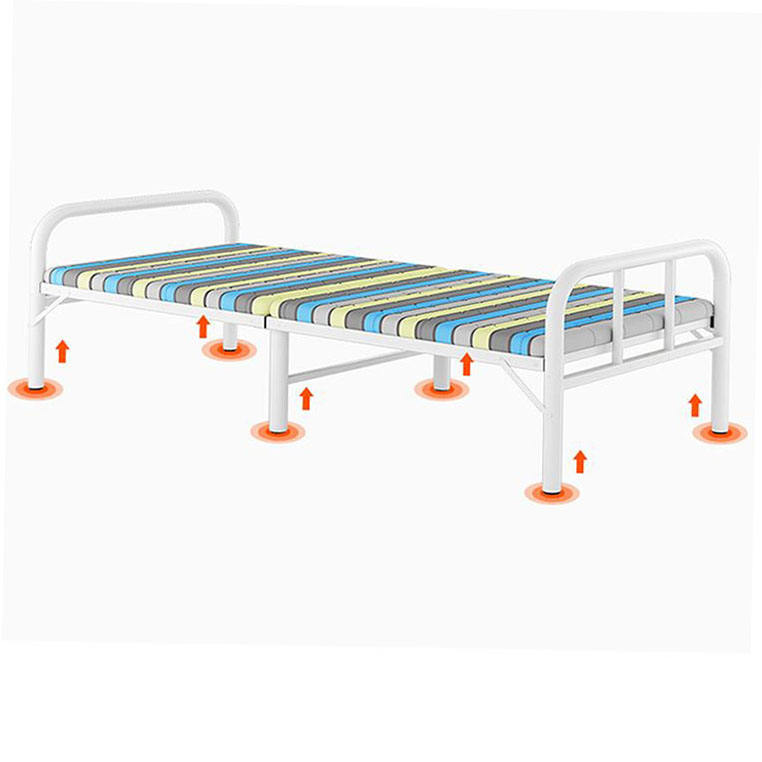 Metal Sofa Cum Bed Rollaway Iron Dormitory Folded And Folding Designs Cabinet Mechanism Practical Sleeping Single Mattress