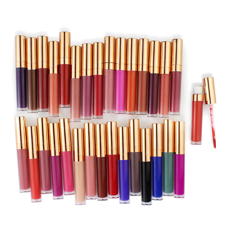 30 colors vegan matte liquid lipstick private label waterproof and long lasting liquid lipstick