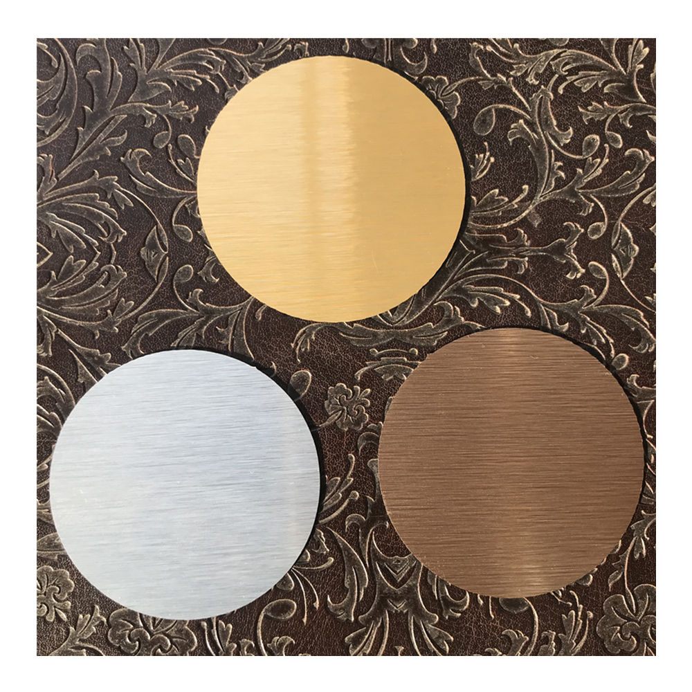 Dye Sublimation Aluminum Round Discs Brushed Silver Brushed Gold Brushed Copper Bronze Color