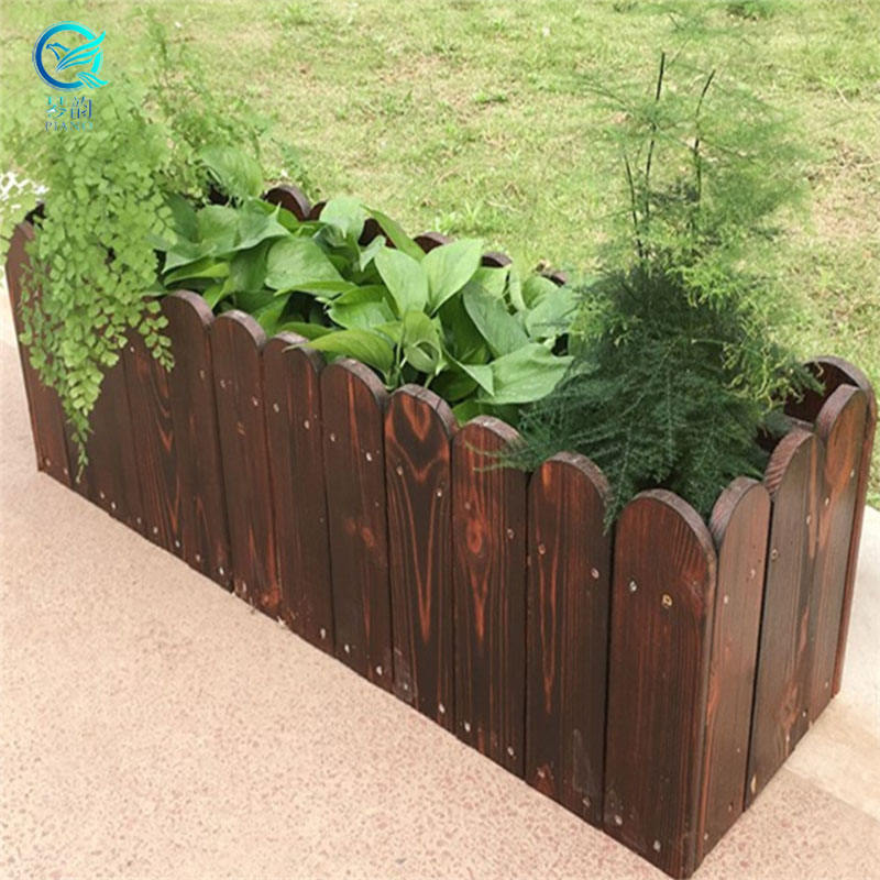 ECO- FRIENDLY HANGING AND STANDING CHARBONIZED ANTISEPTIC WOODEN FLOWER POT & PLANTER FOR GARDEN AND BALCONY