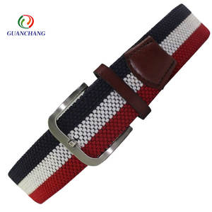 Guanchang factory promotional custom high quality elastic fashion men braided belt