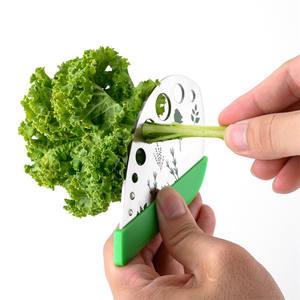Herramientas de cocina de acero inoxidable hoja de hierba de stripper para Kale Chard Col vegetal