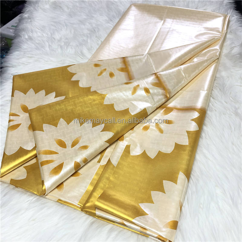 Gold Shadda Fabric African Garment Textile Mauritania Damask Super Bazin Riche MIX design only