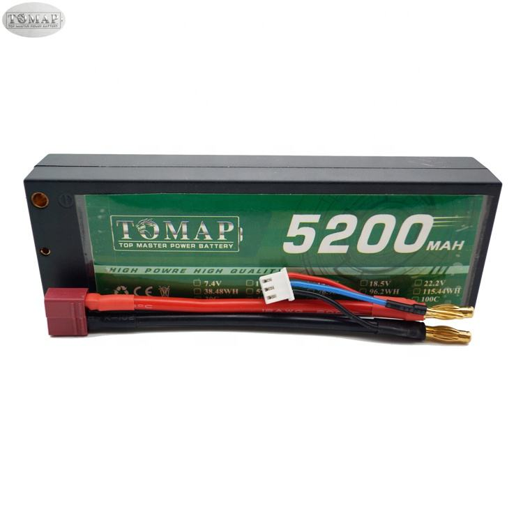 OEM Li-Polymer Lipo Electric Toy Car Model Battery 5200 Mah 2S 7.4 Volt 30C 60C Max Batteries Pack For Rc Car Hardcase