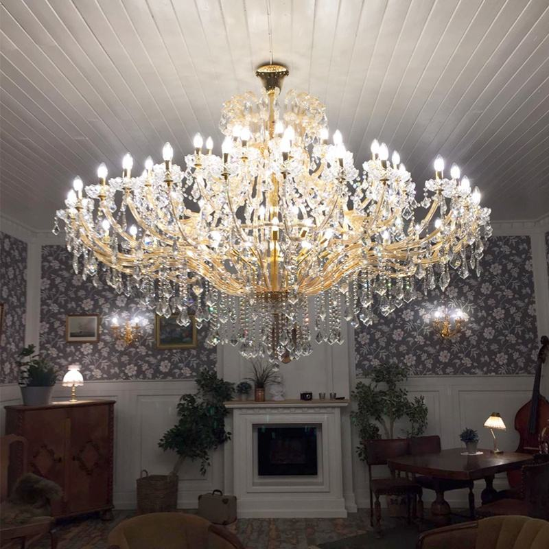 Traditional banquet gold maria theresa chandelier wedding crystal chandeliers pendant lights ETL86029