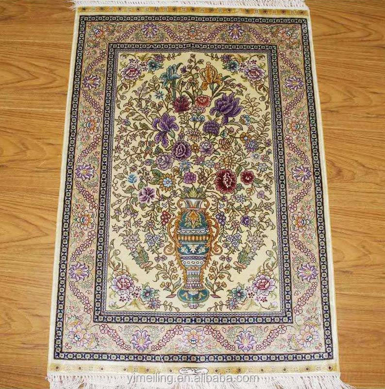 2x3 Small Entrance Size Sample Oriental Persian Silk Hand Knotted Rugs Tapestry Handmade Carpets for Front Door Bedroom Beside