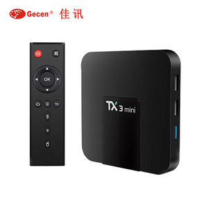 S905W TX3 MINI Android 7.1 Caixa de TV Inteligente Quad Core DDR3 2GB GB 4 16 K 2.4G WiFi TX3MINI Media Set-Top Box caixa de Tv Android